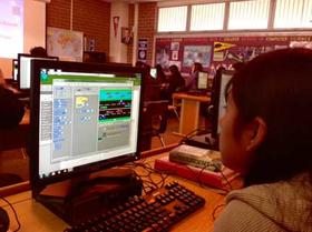 Students Creating Computer Games